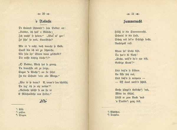 Mundart verse gedichte