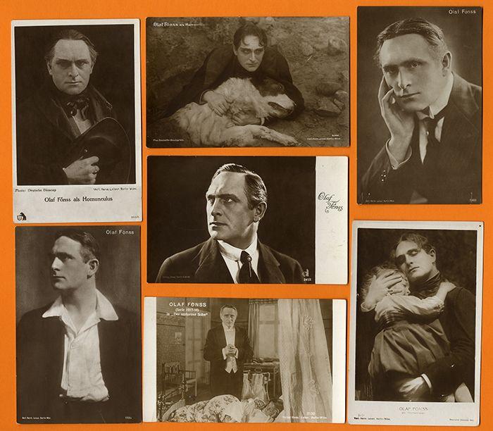 Dänischer Kino Filmschauspieler Stummfilm Olaf Fönss 7 Foto Postkarten 1920