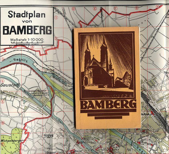 Bayern Franken Bamberg Stadt Geschichte Illustrierter Führer mit Plan 1929