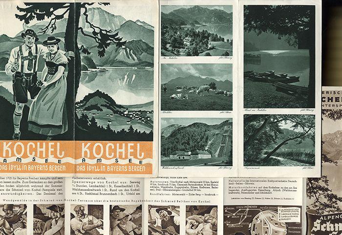 Bayern Alpen Kochel am See Reise Reklame Werbung Sammlung alter Prospekt 1930