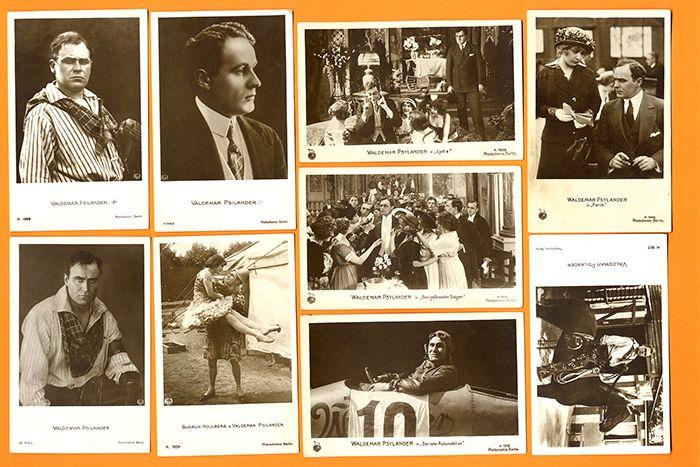 Dänischer Kino Filmschauspieler Valdemar Psilander 10 Foto Postkarten 1918