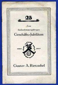 Sachsen Leipzig Schule 25 Jahre Rietzschel Lehrmittel Handel Festschrift 1927