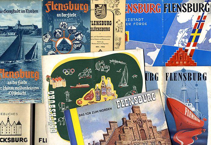 Schleswig Holstein Flensburg Förde Ostsee Sammlung alter Reise Prospekte ab 1930