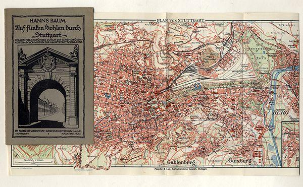 Württemberg Stadt Stuttgart Werbung Reklame Adressteil alter Reiseführer um 1920