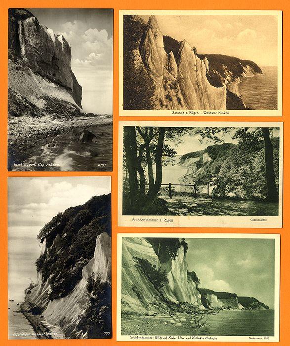 Ostsee Insel Rügen Kreidefelsen Stubbenkammer 10 alte Foto Postkarten ab 1910