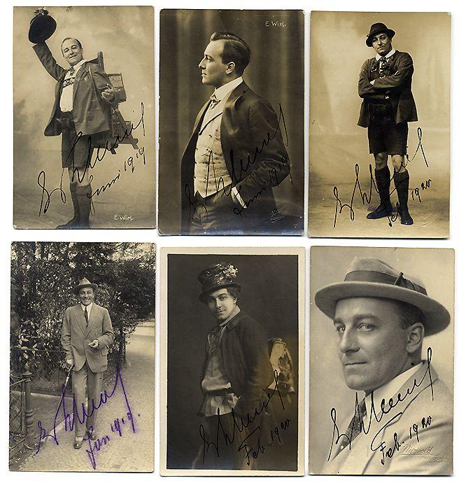 Musik Oper Tenor Erik Wirl 6 Porträt Foto Postkarten mit Autogramm 1920