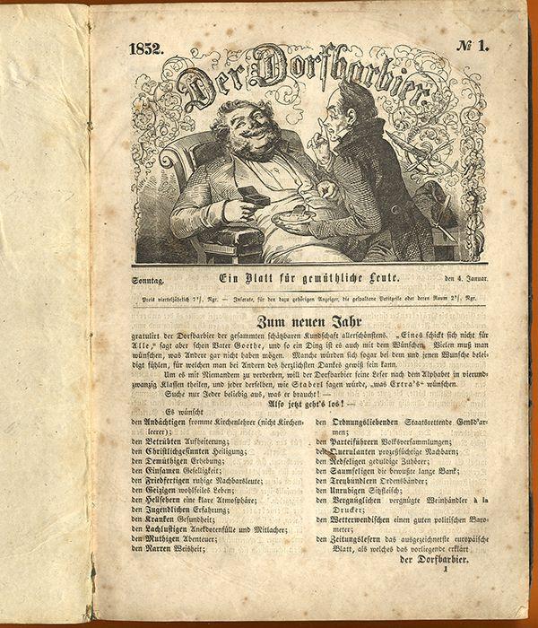 Humor Satire: Deutschland Humor Satire Zeitschrift Der Dorfbarbier