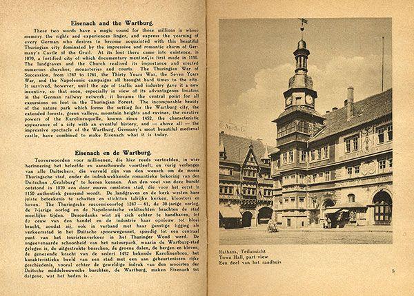 Thüringen Eisenach Wartburg Deutschland Bildheft 1930 1