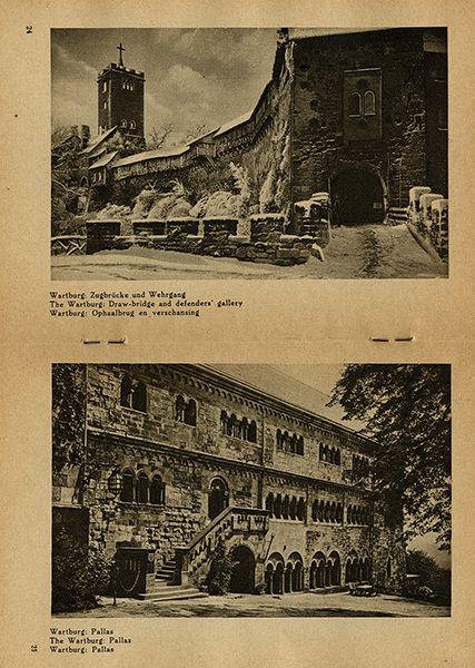 Thüringen Eisenach Wartburg Deutschland Bildheft 1930 4