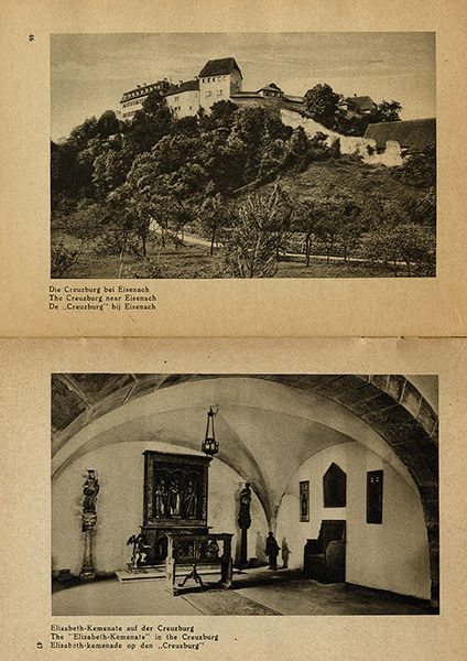 Thüringen Eisenach Wartburg Deutschland Bildheft 1930 5