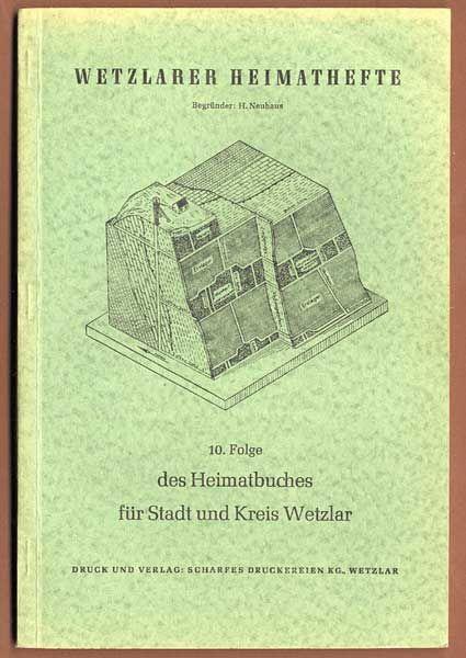 Hessen Nassau Kreis Wetzlar Geologie Gesteine Mineralien Bergbau Heimatbuch 1958