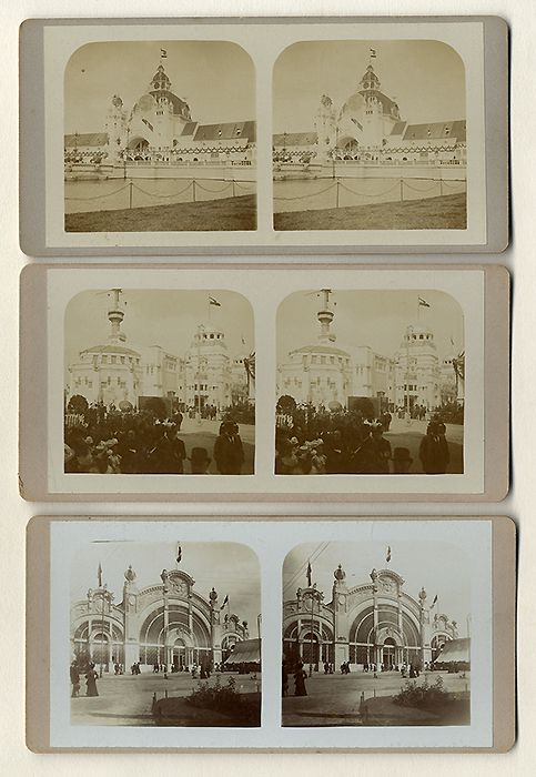 Rhein Westfalen Düsseldorf Gewerbe Ausstellung 3 Stereo Foto Bilder 1902