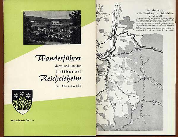 Hessen Odenwald Reichelsheim Gumpen Rodenstein Heimat Wanderbuch 1961