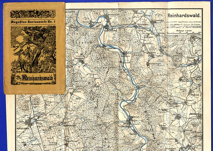 Alte Landkarte Hessen Kassel Reinhardswald Münden Hombressen Bursfelde Weser