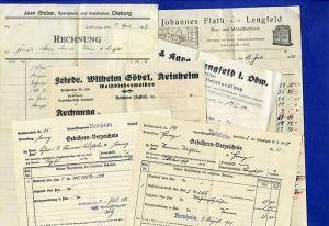 Hessen Odenwald Lengfeld Reinheim alte Handwerker Rechnung Dokumente 1927
