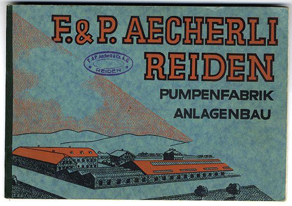 Schweiz Luzern Aecherli Pumpen Fabrik Katalog Muster Preisliste 1920