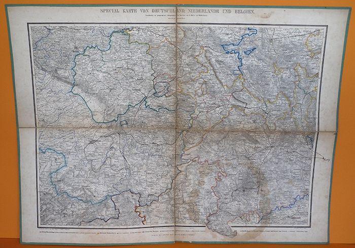 Alte Landkarte Deutschland um 1850 Westfalen Weser Harz Hessen