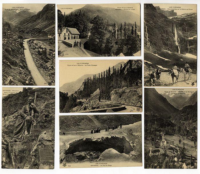 Frankreich Alpen Basken Pyrenäen Pyrénées Gebirge 21 alte Postkarten 1920