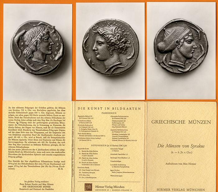 Griechenland Antike Münzen von Syrakus Foto Postkarten Serie 1962