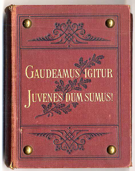 Deutsches Reich Studentika Allgemeines Deutsches Kommers Lieder Buch 1919