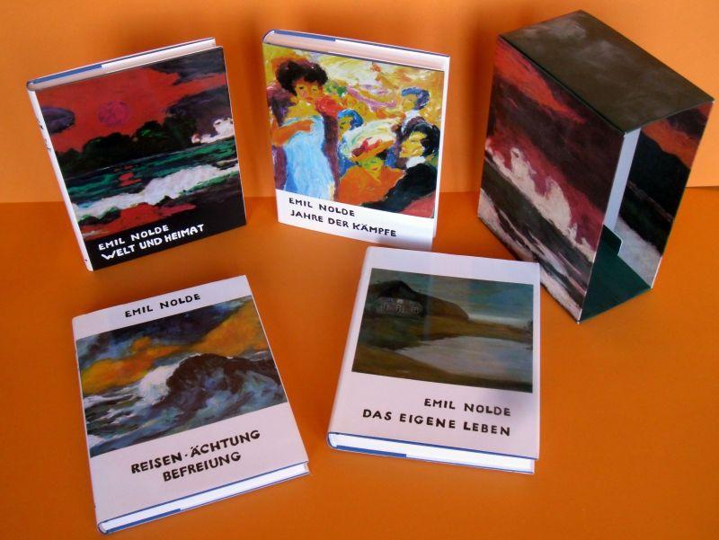 Emil Nolde Autobiographie 4 Bände Kassette Kunst Malerei Expressionismus