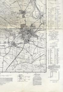 Alte Landkarte Niedersachsen Schöningen Warberg Esbeck Ingeleben Wobeck  1957