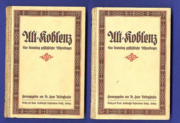 Rheinland Pfalz Alt Koblenz Mittelalter Stadt Geschichte Chronik 2 Bände 1929 0