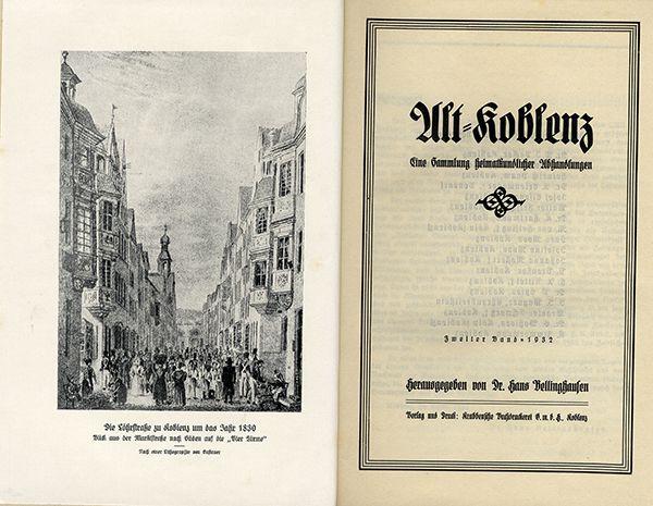 Rheinland Pfalz Alt Koblenz Mittelalter Stadt Geschichte Chronik 2 Bände 1929 3