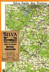 Alte Silvia Landkarte Brandenburg Jüterbog Trebbin Luckenwalde Dahme Luckau 1920
