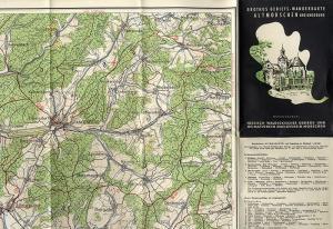 Hessen Felsberg Melsungen Spangenberg Altmorschen Wanderkarten 1960