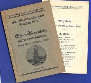 Bayern München Landwirtschaft Viehzucht Ausstellung Pferde Rinder Schweine 1927