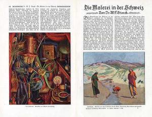 Schweiz Kunst Malerei Moderne Realismus Maler der Gegenwart Retrospektive 1927