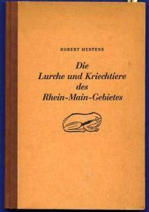 Hessen Zoologie Frösche Schlangen Reptilien im Rhein Main Gebiet Buch 1947