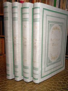 Lessing Theater Fabeln Werke Gesamtausgabe illustriert 4 Bände um 1890