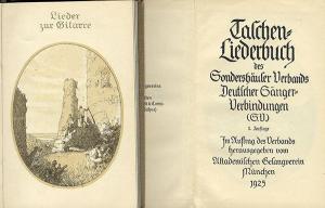 Deutsches Reich Studentika Lieder Buch Sondershäuser Verband Sänger Verbindung