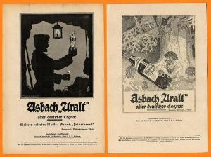 Werbung Reklame Rüdesheim Weinbrand Asbach Uralt 16 Anzeigen 1930