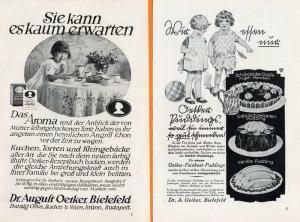 Werbung Reklame Bielefeld Dr. Oetker Pudding Torten Backpulver Anzeigen 1930