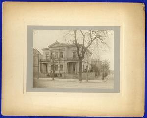 Dresden Loschwitz Villa in der Schiller Straße Original Familien Foto von 1903