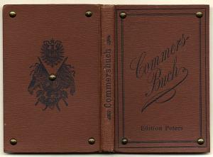 Deutsches Reich Studentika Deutsches Kommers Lieder Buch Edition Peters 1897