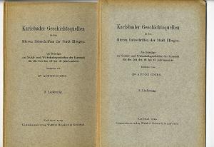 Böhmen Sudeten Karlsbad Elbogen Urkunden Regesten Stadt Geschichte 4 Bände 1929