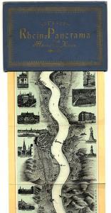 Der Rhein von Mainz bis Köln 2m langes farbiges Jugendstil Leporello um 1890