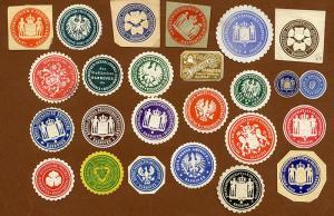 Deutsches Reich Stadt Hannover 25 Siegel Vignetten Polizei Behörden 1900