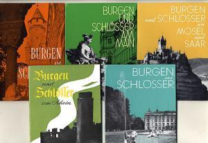 Deutschland Mittelalter Burgen am Main Rhein Taunus Mosel Saar 5 Bücher