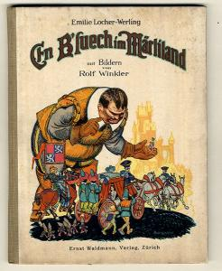 Altes Schweizer Kinderbuch Ein Besuch im Märchenland Bilder Rolf Winkler 1930