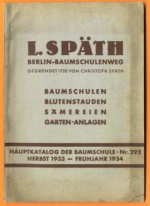 Berlin Baumschulenweg Späth Obst Bäume Studen Garten Pflanzen Katalog 1934