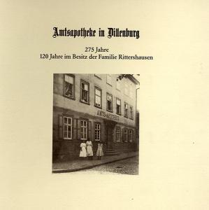 Hessen Nassau Dillenburg 275 Jahre Amts Apotheke Geschichte Chronik Festschrift