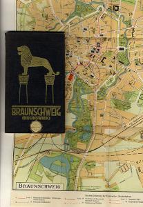 Niedersachsen Braunschweig Stadt Geschichte alter Reiseführer Reklame 1929