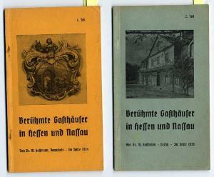 Hessen Nassau Frankfurt Taunus Hotel Gaststätten 2 Bände komplett 1935