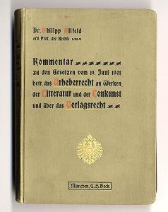 Deutsches Reich Copyright Urheber Recht für Literatur Musik und Kunst Buch 1902