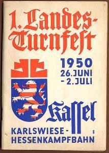 Hessen Kassel Sport Landes Turnfest Festschrift Programm 1950